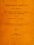 Zoological results based on material from New Britain, New Guinea, Loyalty Islands and elsewhere, collected during the years 1895, 1896 and 1897; part II