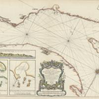 Carte du cours du fleuve de Saint Laurent depuis la mer jusqu'a Quebec, en deux feuilles