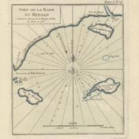 Idee de la rade du Mingan suivant le journal de la fregate du roy La Diane en 1755