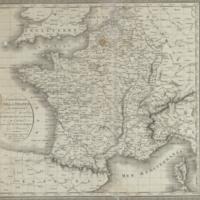 Carte générale de la France par départemens servant à l'assemblage des 182 feuilles de la carte de France de Cassini