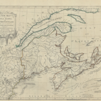 A new map of Nova Scotia, and Cape Breton Island with the adjacent parts of New England and Canada