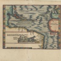 Terra Nova : hec terracum adiacentib' insulis inuenca est p Cristoferum Columbum ianuensem ex mandato Regis Castelle