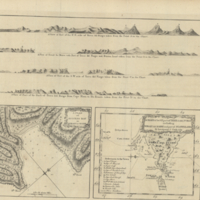 A plan of Success Bay in Strait Le Maire ; A chart of the S.E. part of Terra del Fuego including Strait Le Maire....