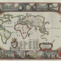 A map of all the earth and how after the flood it was divided among the sons of Noah