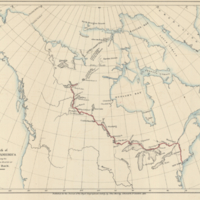 Sketch of North America shewing the proposed route of Capt. Back