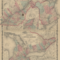 Johnson's Lower Canada and New Brunswick [and] Johnson's Upper Canada