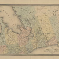 New railway and postal map of the Dominion of Canada. Sheet no. 2