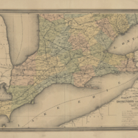 New railway and postal map of the Dominion of Canada. Sheet no. 3