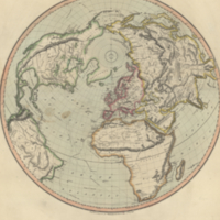 Northern hemisphere : projected on the plane of the horizon of London