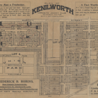 Plan of Kenilworth opposite Jockey Club adjacent to the City of Hamilton