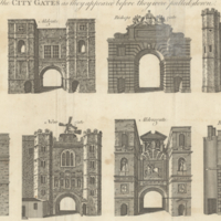 The city gates as they appeared before they were pulled down