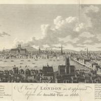 A view of London as it appeared before the dreadful-fire in 1666