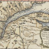 Carte du cours du fleuve de St. Laurent depuis son embouchure jusqu'au dessus de Quebec