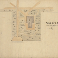 Plan of lot shewing the gate house in cemetery