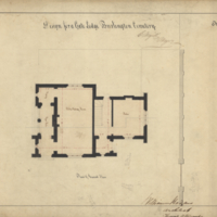 Design for a gate lodge Burlington Cemetery, sheet no. 2