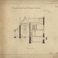 Design for a gate lodge Burlington Cemetery, sheet no. 7