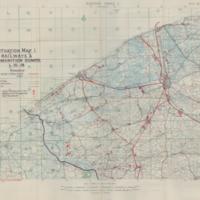 Situation Map 1: Railways & Ammuniton Dumps 1-10-18
