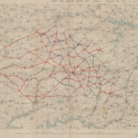 Third Army Forward Traffic Map