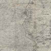 Army Area Map No. 14: Enemy Order of Battle 11-11-1918, Situation Map No.25