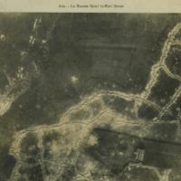 Aerial photo, World War, 1914-1918; La Bassee canal; Scarpe river..