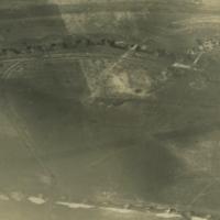 Aerial photo, World War, 1914-1918; Bullecourt; Fontaine-les-Croisilles; Hindenburg Line.. April, 1917.