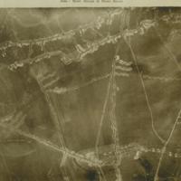 Aerial photo, World War, 1914-1918; Scarpe river; Ancre river..