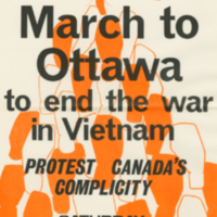 Toronto Co-ordinating Committee to End the War in Vietnam, poster, 26 March [1966]