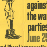 Vietnam Mobilization Committee, poster, 25 June [1968?]