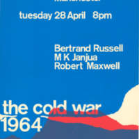 Bertrand Russell Peace Foundation, poster, 28 April 1964