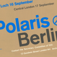 Fior, Robin ; Committee of 100, poster, 16-17 September [1961]