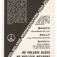 Committee of 100, poster, 18 February 1961