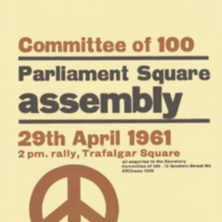 Committee of 100, poster, 29 April 1961