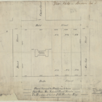 Plan of survey of the block lying between Bold, Duke, MacNab, and Bond Streets