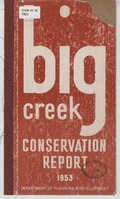 Big Creek Valley conservation report 1953