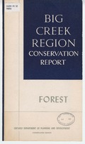 Big Creek region conservation report: forestry