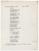 Poetry - Poems, placed in alphabetical order by archivist