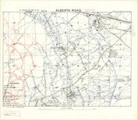 Alberta Road : [Lens - Vimy Ridge Battlefield, August 1918, Canadian Corps Intelligence log map]