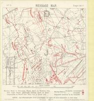 Message map no. 3, Sept:1917 : [3rd Battle of Ypres, Zonnebeke Region]
