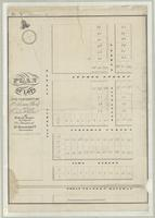 Plan of lots the property of Hutchinson Clark and Burton & Sadlier