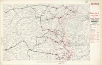 [First] Army area : secret, map no. 4, First Army R.E. supply system; First Army railways, [January 1918]