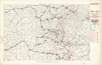 [First] Army area : secret, map no. 3, First Army supply & reinforcement system; First Army railways, [January 1918]