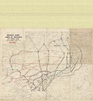 [Second] Army area no. 1 : Second Army lines of defence, 25th April 1918