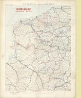 N. E. France & part of Belgium : billeting area map, issued with O.A. 414, dated 30.1.18