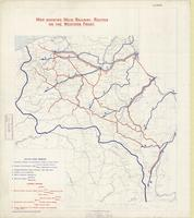 Map showing main railway routes on the Western Front