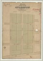 Plan of lots in the City of Hamilton, the property of V.H. Tisdale, Esq.