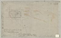 Plan of survey of block in the late James Mills's survey made by me