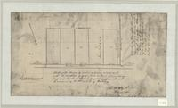 Sketch of the survey of 5 lots containing 5 acres each with the exception of no 5 which contains 4 a. [illegible details]