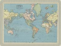 Rand, McNally & Co.'s indexed atlas of the world, map of the world on Mercator's projection