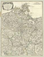 Nouvelle carte de la pomeranie occidentale et de l'electorat de Brandebourg