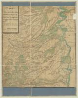 Carte des marches des Armeés depuis le spirbac jusqu'aux Lignes de la Lou-ter Ce qui en Verd est Bois.